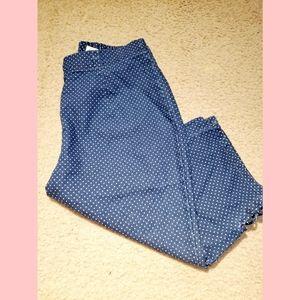 💫Croft & Barrow polka dot bermuda shorts size 10P